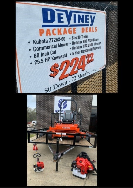kubota package deal z726x-60