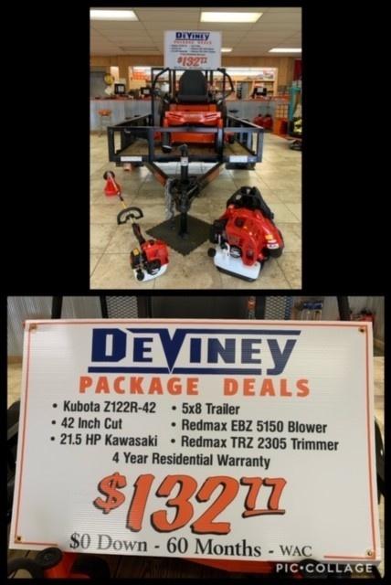 kubota mower deal $132