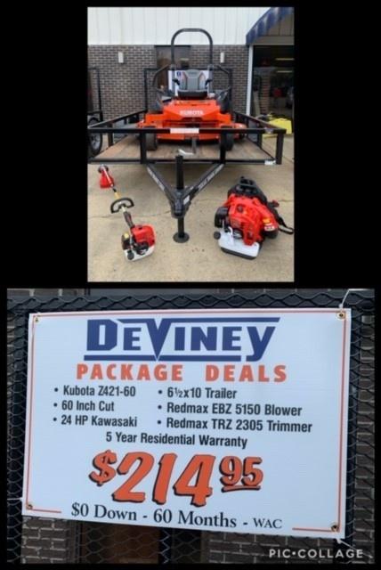 kubota mower deal $214